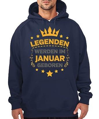 -- Legenden werden im Januar geboren -- Boys Kapuzenpullover: Amazon.de:  Bekleidung