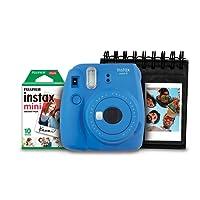 Kit Câmera Instantânea com Porta Fotos e Filme 10 Poses, Fujifilm, INSTAX MINI 9 7892520239892, Azul cobalto