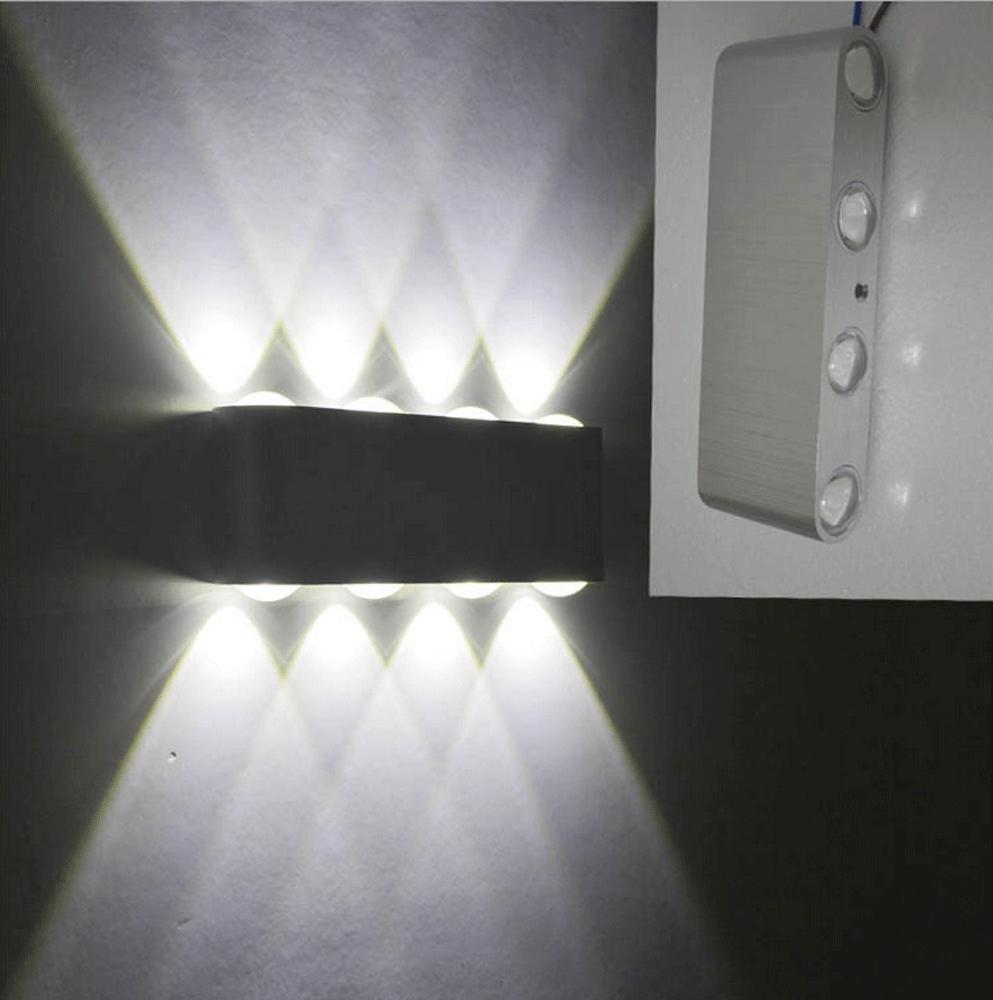 BAJIAN-LI Modernes Bett Wandleuchte, Innenraumbeleuchtung hängende Wand Lampe mit flexiblen Outdoor Schwenkarm für Schlafzimmer, Flur Büro, Restaurant, Garten, Studio, Wohnzimmer, Weißes Licht