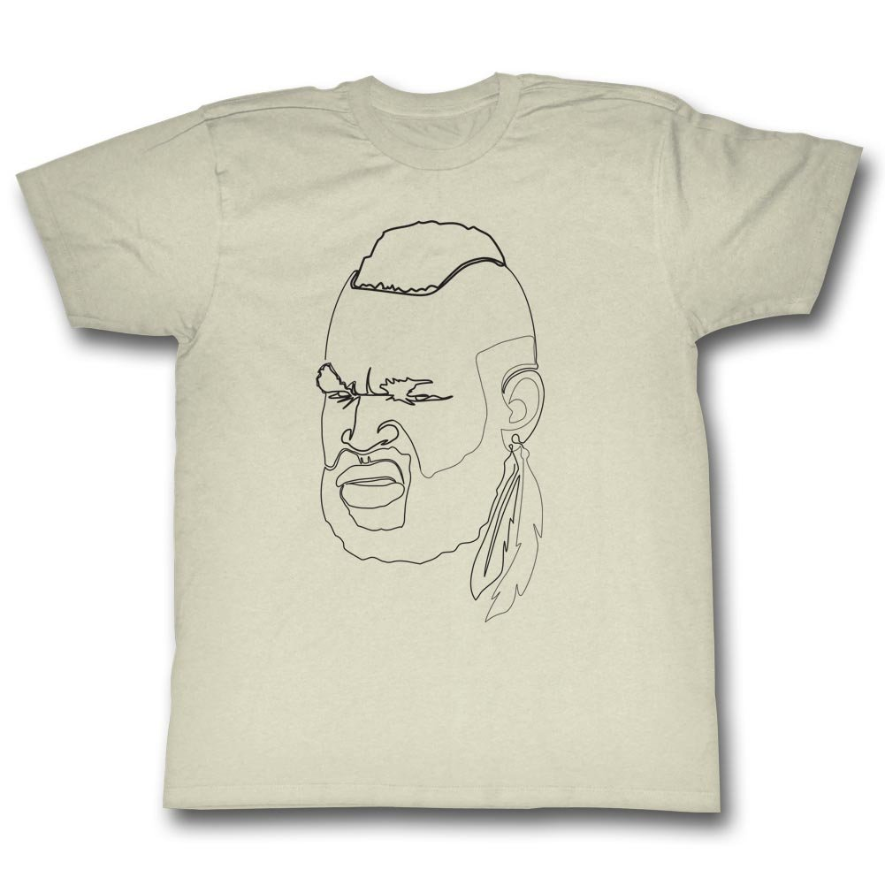 T simple clean pencil sketch face feather outline tan beige adult t shirt clothing