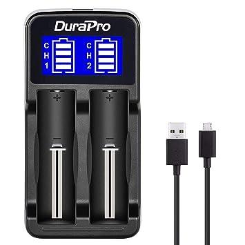 DuraPro - Cargador Universal con Pantalla LCD para baterías ...