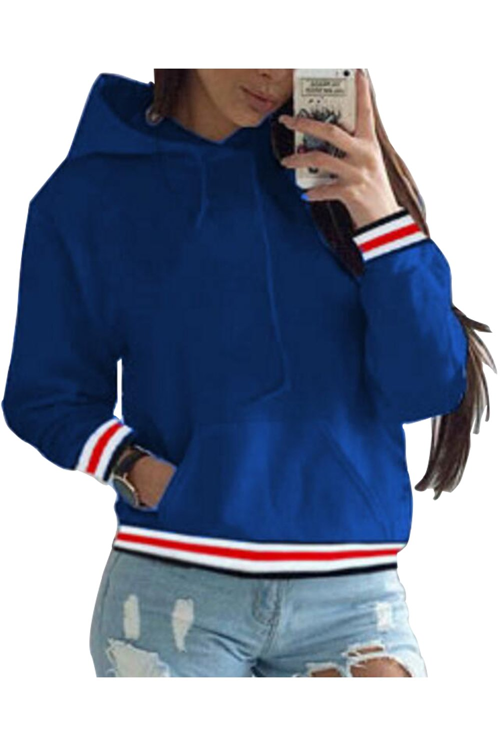 Aifer Women Hangover Sweatshirts Sports Pullover Tops Hoodies With Pockets