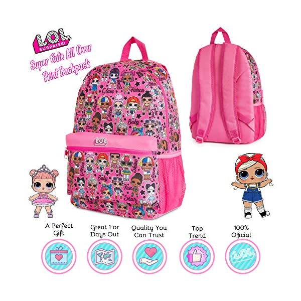 L.O.L. Surprise ! Zaino Scuola Elementare Bambina, Lol Surprise Zaini Medie E Asilo, Zainetto Back To School, Cartelle… 2 spesavip