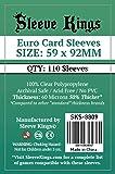 Sleeve Kings Euro Card Sleeves (59x92mm) - 110 Pack, 60 Microns