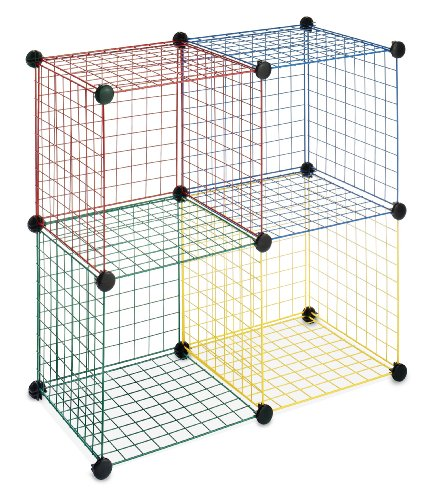 Whitmor Kids Storage Cubes Set of 4 Multicolor