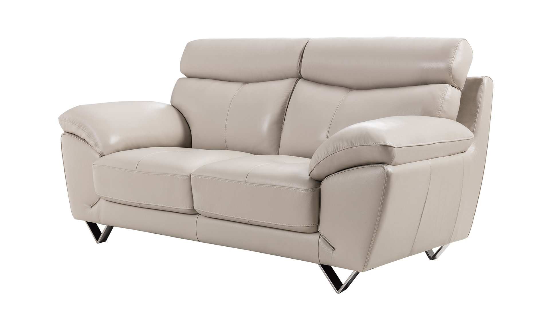 Pleasing American Eagle Furniture 2 Piece Valencia Collection Complete Italian Grain Leather Living Room Sofa Set Light Gray Ibusinesslaw Wood Chair Design Ideas Ibusinesslaworg