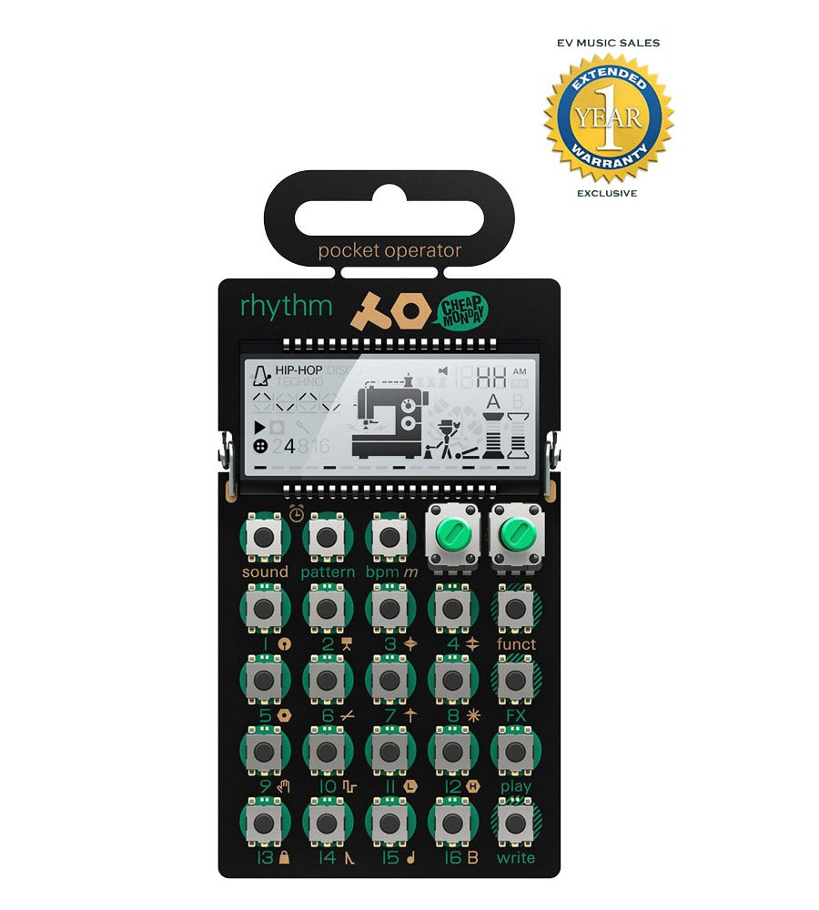 Teenage Engineering PO-12 Rhythm Pocket Operator with 1 Year Free Extended Warranty