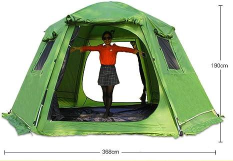 AOGUHN Tienda de campaña - 5 8 Personas Tienda automática al Aire Libre Yurta Espacio Interno Tienda de campaña Grande para el Descanso Fiesta Familiar Gazebo Carpas Pérgola Impermeable, Verde, 1: Amazon.es: