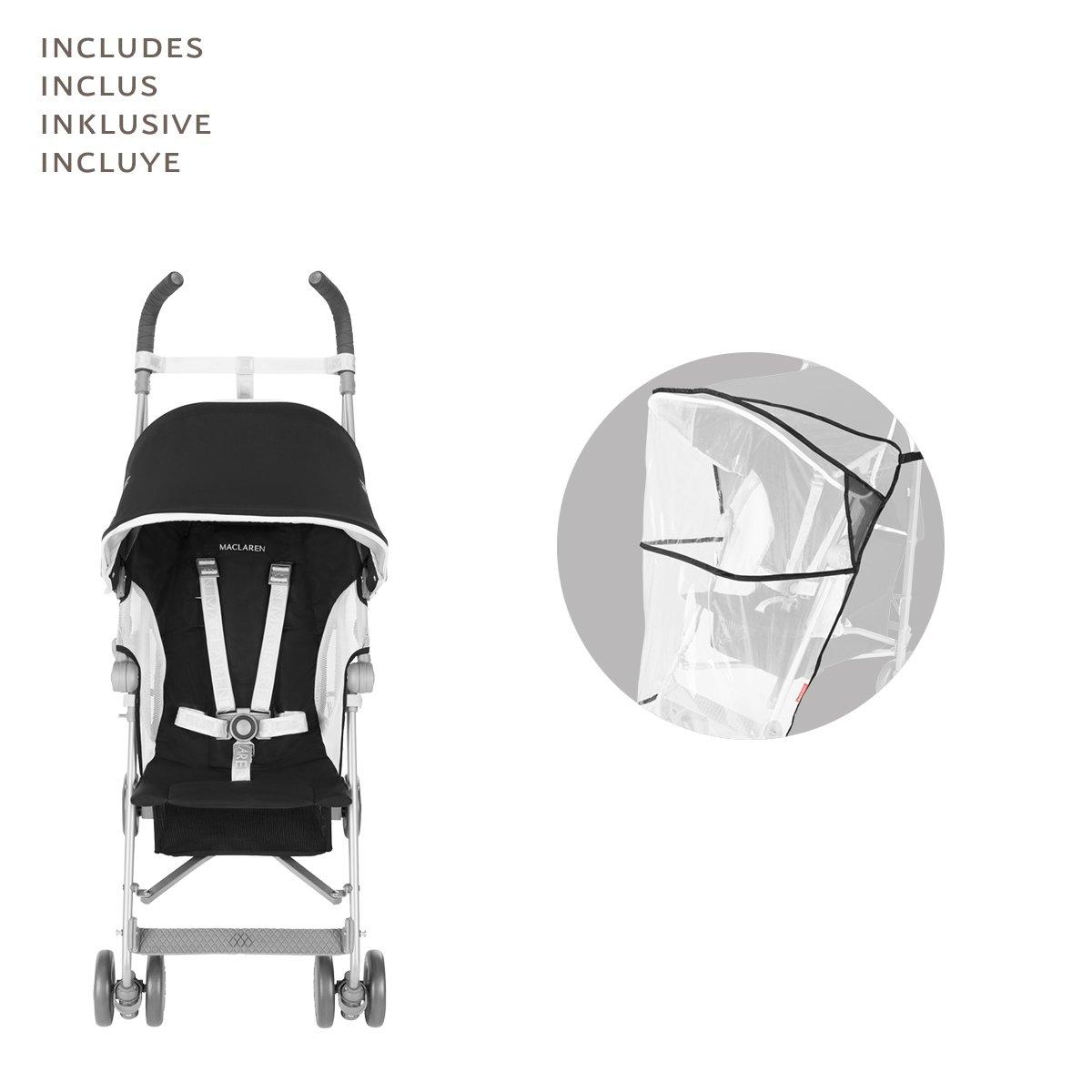 Maclaren Globetrotter - Silla de paseo, color negro/blanco