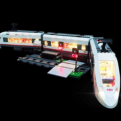 Kit de iluminación LED para LEGO City Tren de pasajeros de alta velocidad 60051 Tren de