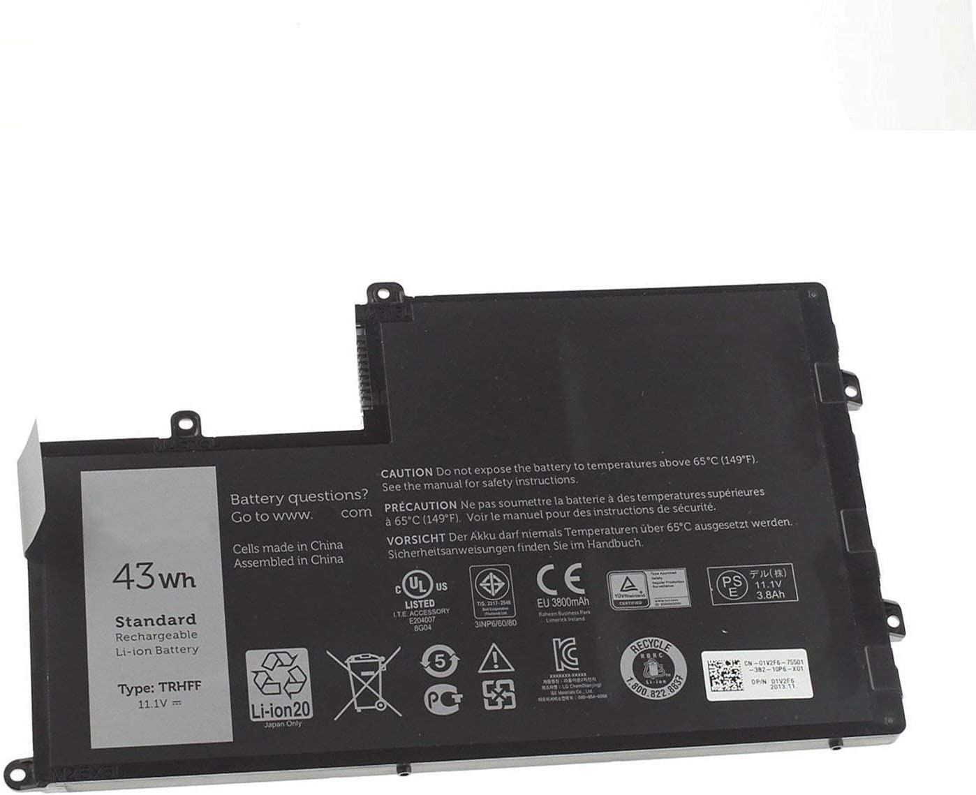 Fully TRHFF Replacement Battery Compatible with Dell INSPIRON N5447 N5547 Latitude 14 3450 15 3550 DL011307-PRR13G01 1V2F6 01V2F 1WWHW P39F Series Laptop - 11.1V 43Wh