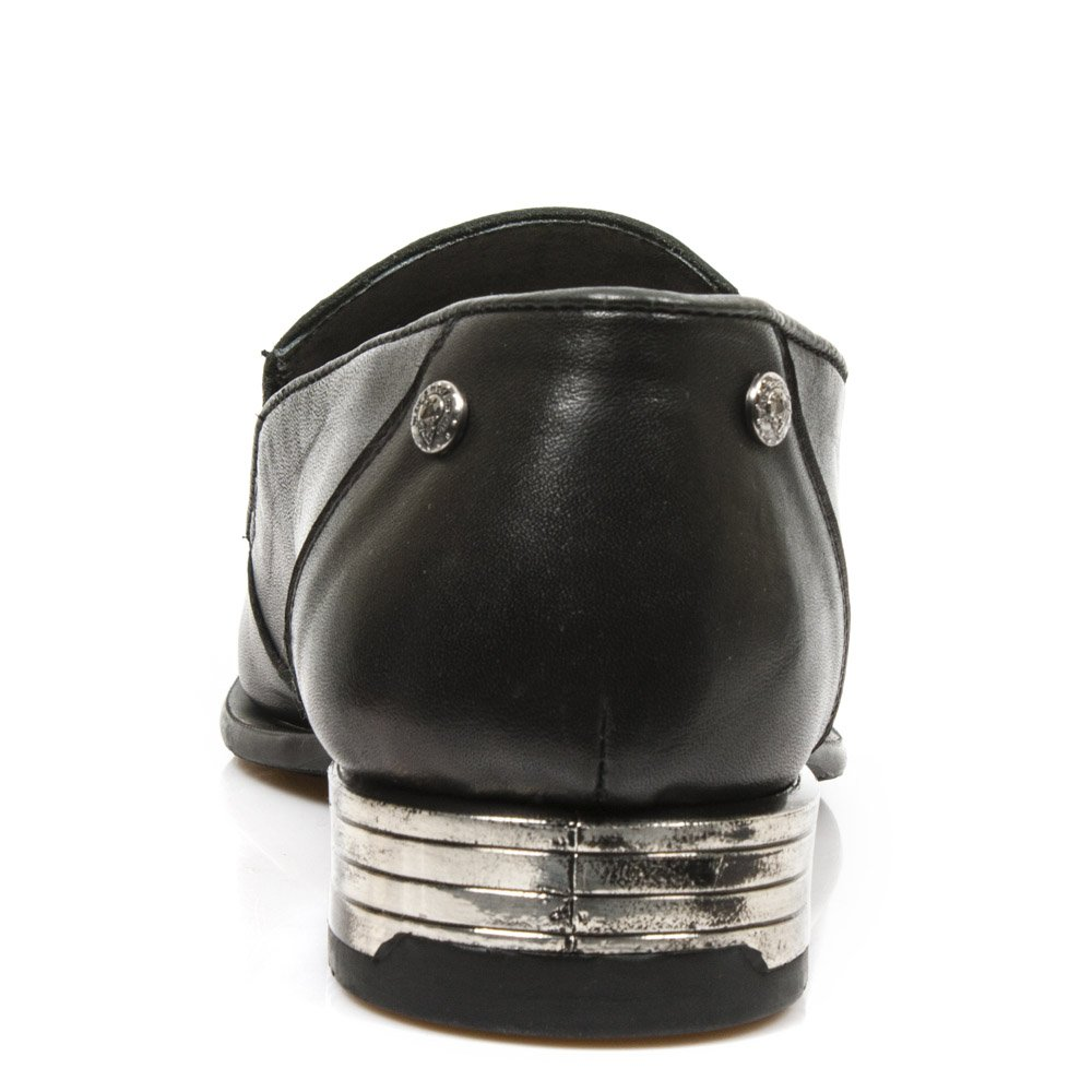 Zapatos PIEL Hombre Skull NEW ROCK ORIGINAL Calavera Bordada M.NW145-R1 (42): Amazon.es: Zapatos y complementos