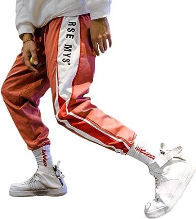 Irypulse Pantalons De Jogging Deportivos Casuales Para Hombre Chandal Moda Callejera Urbana Para Adolescentes Y Ninos Pequenos Pantalone Aptitud Con Rayas Laterales De Moda Diseno Original Amazon Es Ropa Y Accesorios