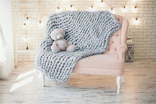 Ovillo gigante de hilo de lana gruesa, súper suave; lana cardada de gran volumen para tejer con los brazos.: Amazon.es: Juguetes y juegos