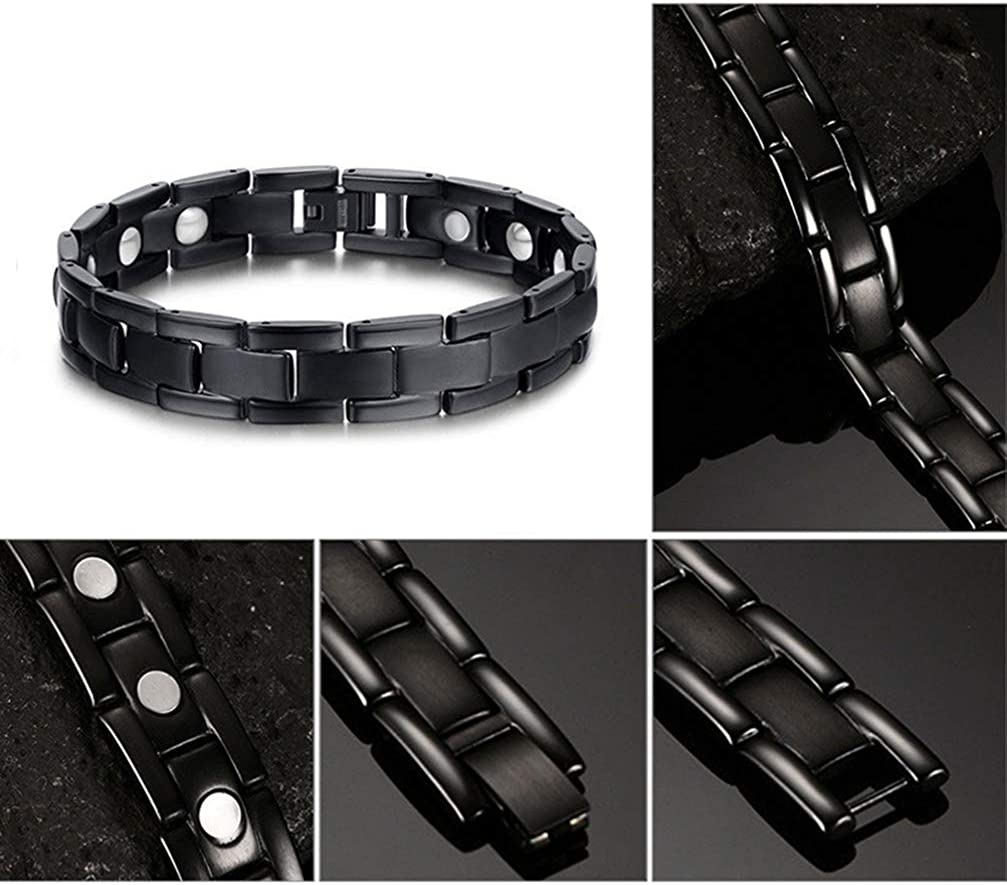 SUPVOX Magnetic Bracelet Stainless Steel Jewelry Healthy Therapy Accessories for Men Women