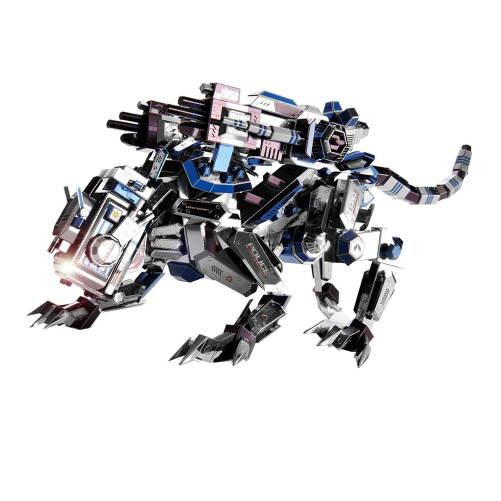 Baoblaze 366pcs 3D DIY Assembly Metalwork Figurine Sculpture Model Kits Office Bar Art Craft Collection Toy Mechanical Dog