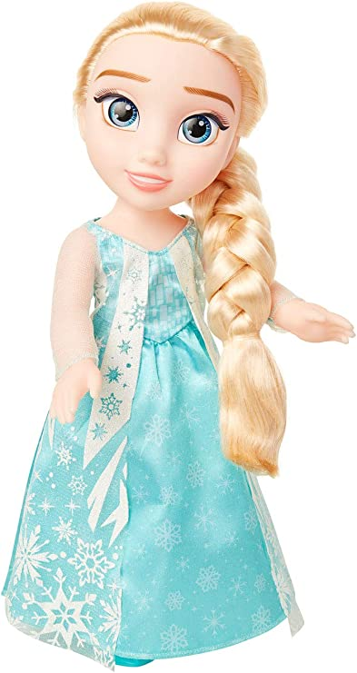 Disney Frozen Elsa Doll with Movie Inspired ICY Blue Outfit, Blue Shoes & Long Braided Hair Style - Approximately 14