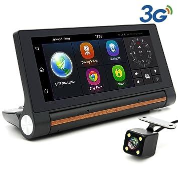 """Junsun Android Navegador GPS para Coche 7"""" con Dashcam Cámara de Coche Videocámara DVR con"""