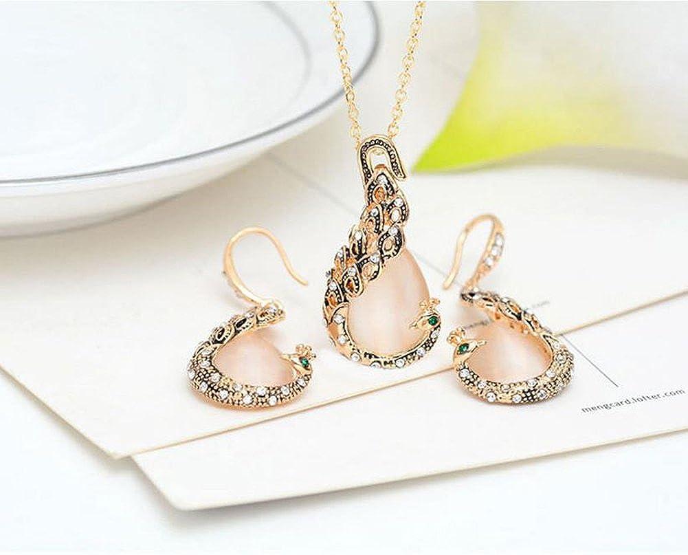 Hoveey Hochzeit Boho Party Kost/üm Schmuck Halskette Ohrringe Set f/ür Frauen Neuheit Schmuck Kleidung Zubeh/ör