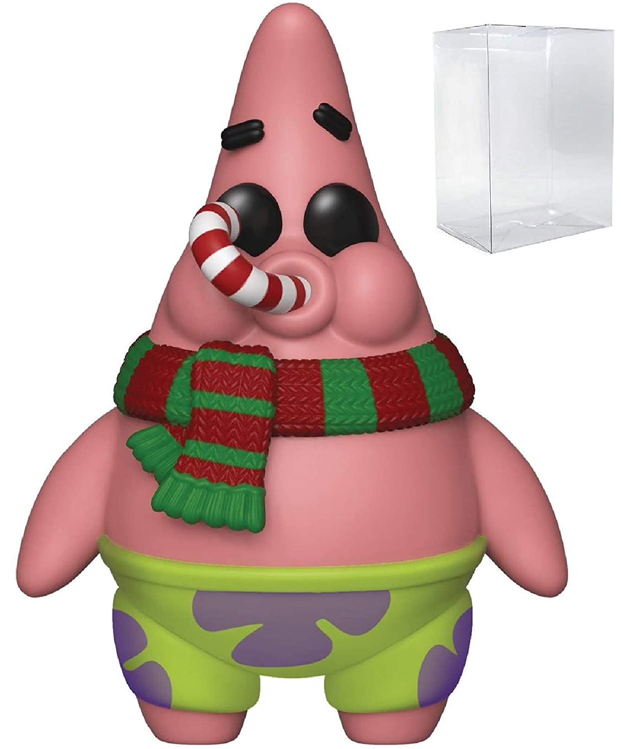 Funko Pop Holiday Patrick Star Vinyl Figure Includes Pop Box Protector Case Animation: Spongebob Squarepants