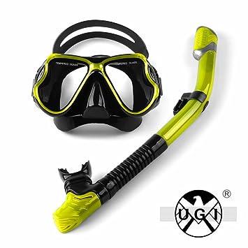 UGI Snorkel Set, Natación Buceo tubo de respiración Buceo Snorkels Máscara Goggles Tubería Tubo de