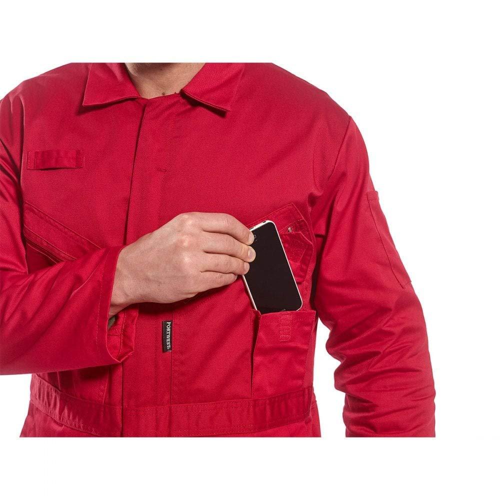3/x -large rosso Portwest C813RERXXXL Liverpool zip tuta regular