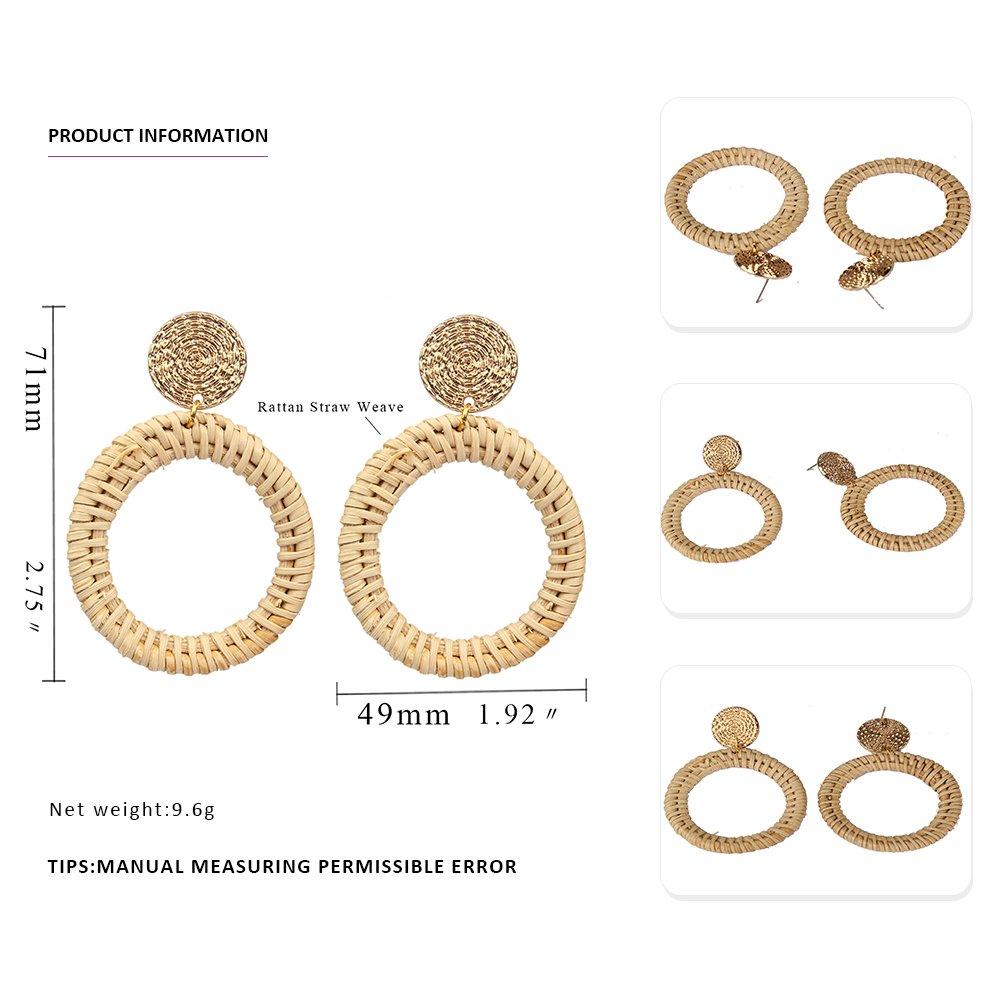 MIZUKAGAMI Tortoise BCVE Earrings 2.75'' x 1.92'' for Women Acrylic Acetate Edition Extrordinary Pattern by mizukagami (Image #2)