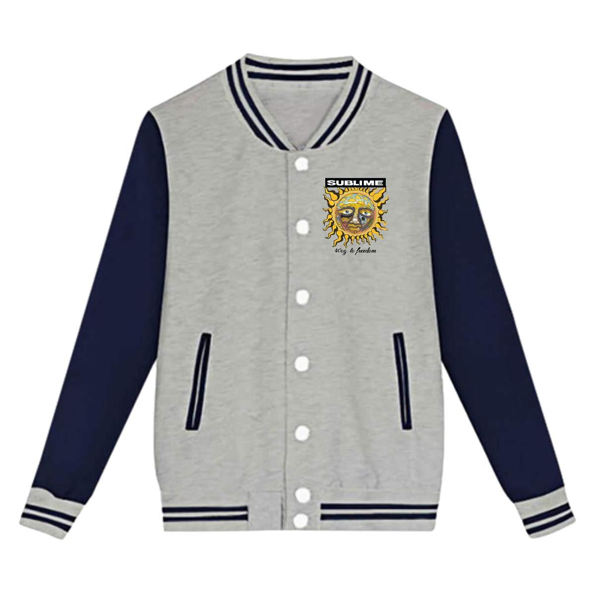 LIALUER Sublime 40oz to Freedom Youth Baseball Jacket Uniform V Sweater Coat
