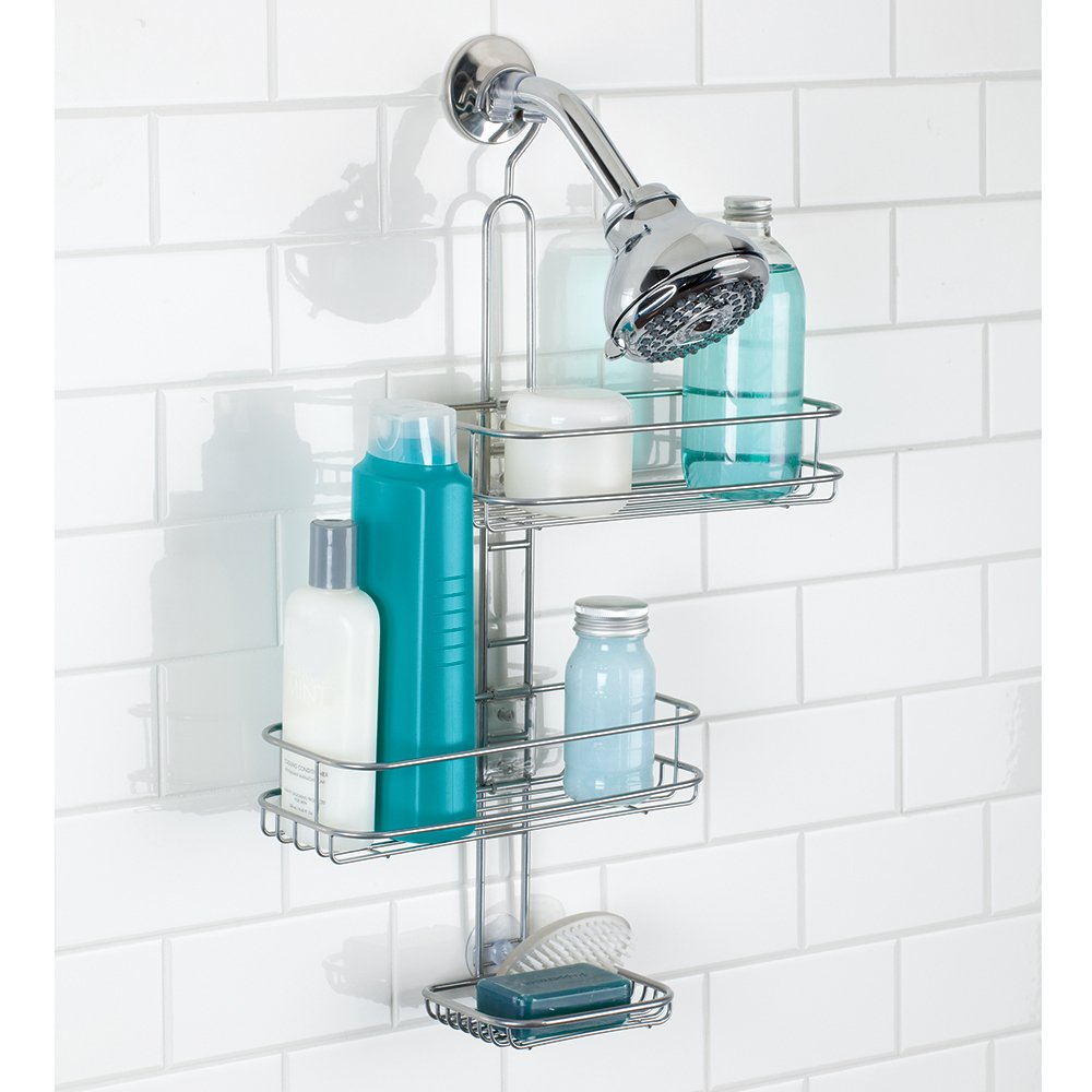 Amazon.com: InterDesign Linea Adjustable Shower Caddy - Bathroom ...