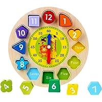 CCINEE madera forma clasificación reloj educativo juguete educativo