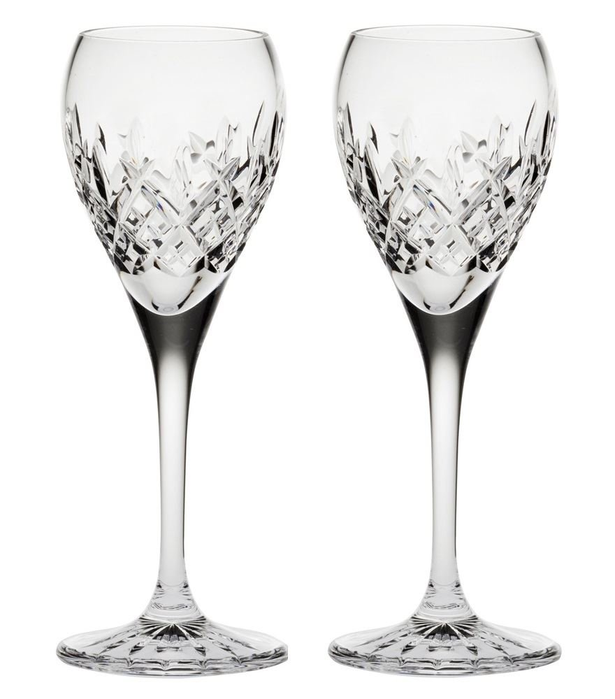 Royal Scot Crystal London Set of 2 Crystal Port Sherry Glasses