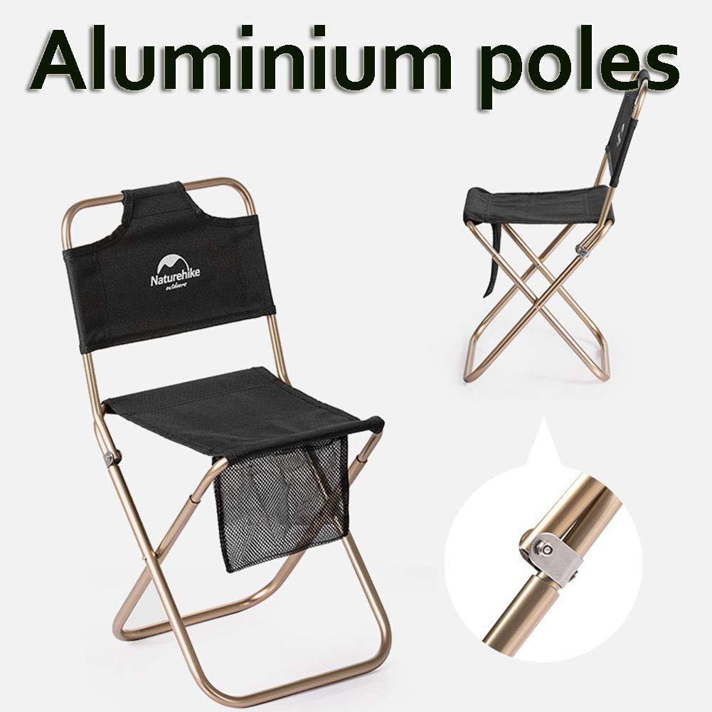 tentock al aire libre Luminium aleaci/ón ligero taburete plegable sillas port/átil para Camping pesca negro