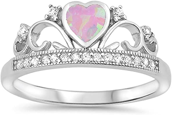 crown ring Sterling Silver 925 Opalite ring