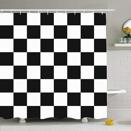 Ahawoso Cortina de ducha para baño de 152 x 183 cm, diseño de ...
