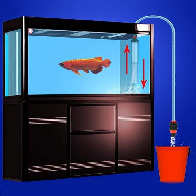Aspirador para acuario para tanque de peces, limpiador de peces, sifón, cambiador de agua: Amazon.es: Belleza