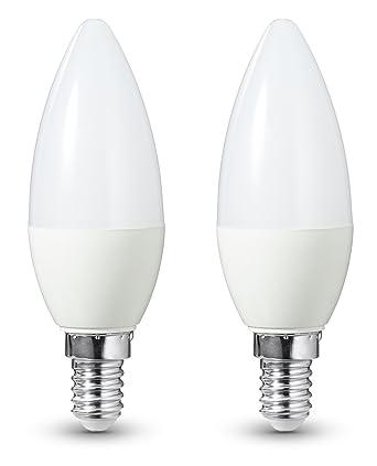AmazonBasics - Bombilla LED E14, 6 W equivalente a 40 W, 470 lúmenes,