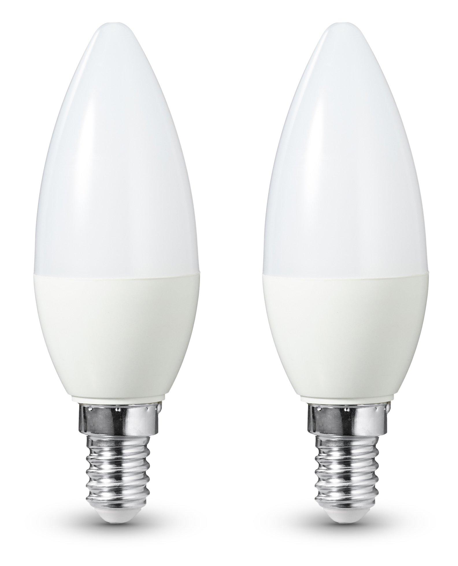 AmazonBasics - Bombilla LED E14, 5,5 W equivalente a 40 W, 470
