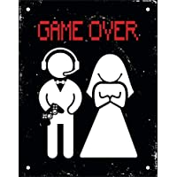 Placa em Poliestireno - Game Over, Sinalize, Preto, 18 x 23 cm