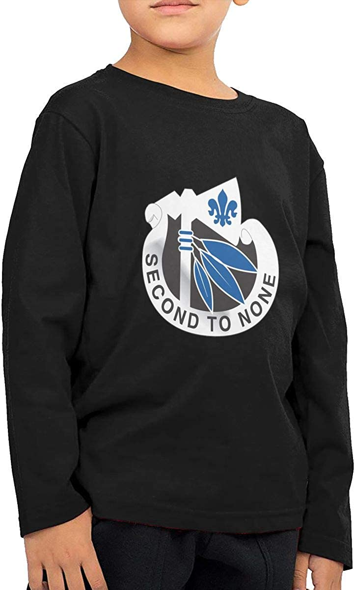 Army 2nd Infantry Division Unit Crest Vinyl Transfer Childrens Long Sleeve T-Shirt Boys Girls Cotton Tee Tops
