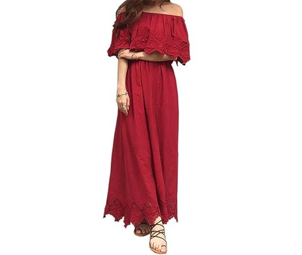 Twilaisaac Fashion vestidos longos strapless sólidos cotton dress vermelho vestidos sem mangas fora do ombro party