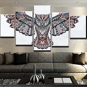 QFQH Farmework Leinwand HD Gedruckte Malerei Home Decor 5 Stück der ...
