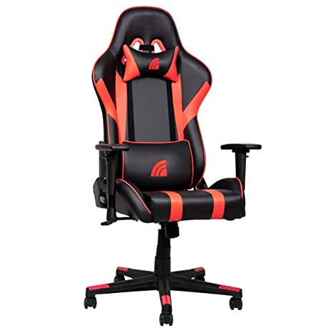 Fantastic Inland Mach Ergonomic Racing Style Recliner Gaming Chair With 5 Year Warranty Black Red Color Andrewgaddart Wooden Chair Designs For Living Room Andrewgaddartcom