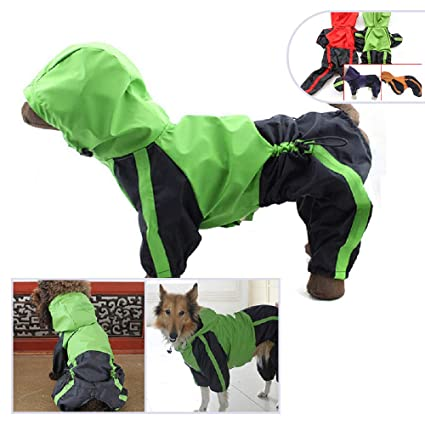 Home & Garden Waterproof Dog Raincoat Jacket Reflective Dogs Rain Safety Rainwear Dog Jumpsuits Poncho Clothes For Small Medium Large Pet Gogs Special Summer Sale Dog Clothing & Shoes