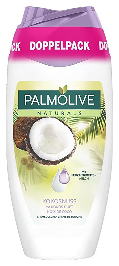 Palm olivo Naturals Coco & Humedad Leche Gel de Ducha Doble pack, 6 pack (