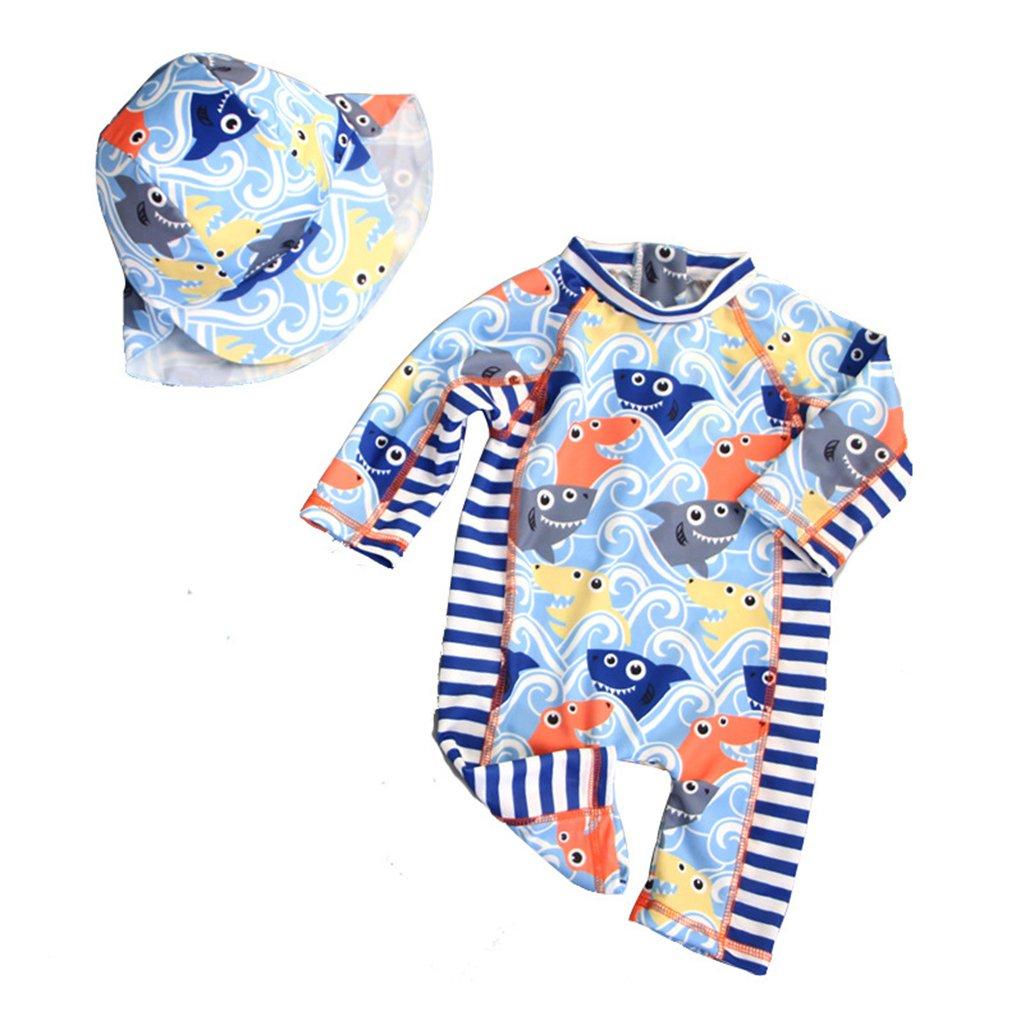 ThreeH Costumi da Bagno protettivi da Sole in Un Pezzo da Neonato BM06