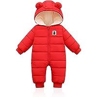 Bigzzia - Mono de invierno para bebé, para niños, niñas y niños, de algodón, para bebés