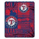 Northwest Texas Rangers Mlb Light Weight Fleece Blanket (strength Series) (50inx60in)