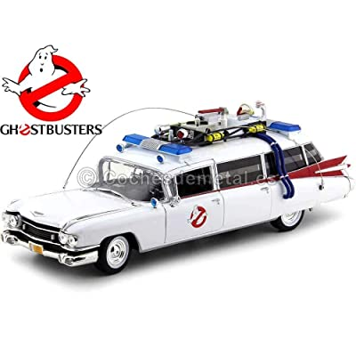 """1959 Cadillac Ambulance Ecto-1 From """"Ghostbusters 1"""" Movie 1/18 Diecast Model Car by Autoworld AWSS118: Toys & Games"""