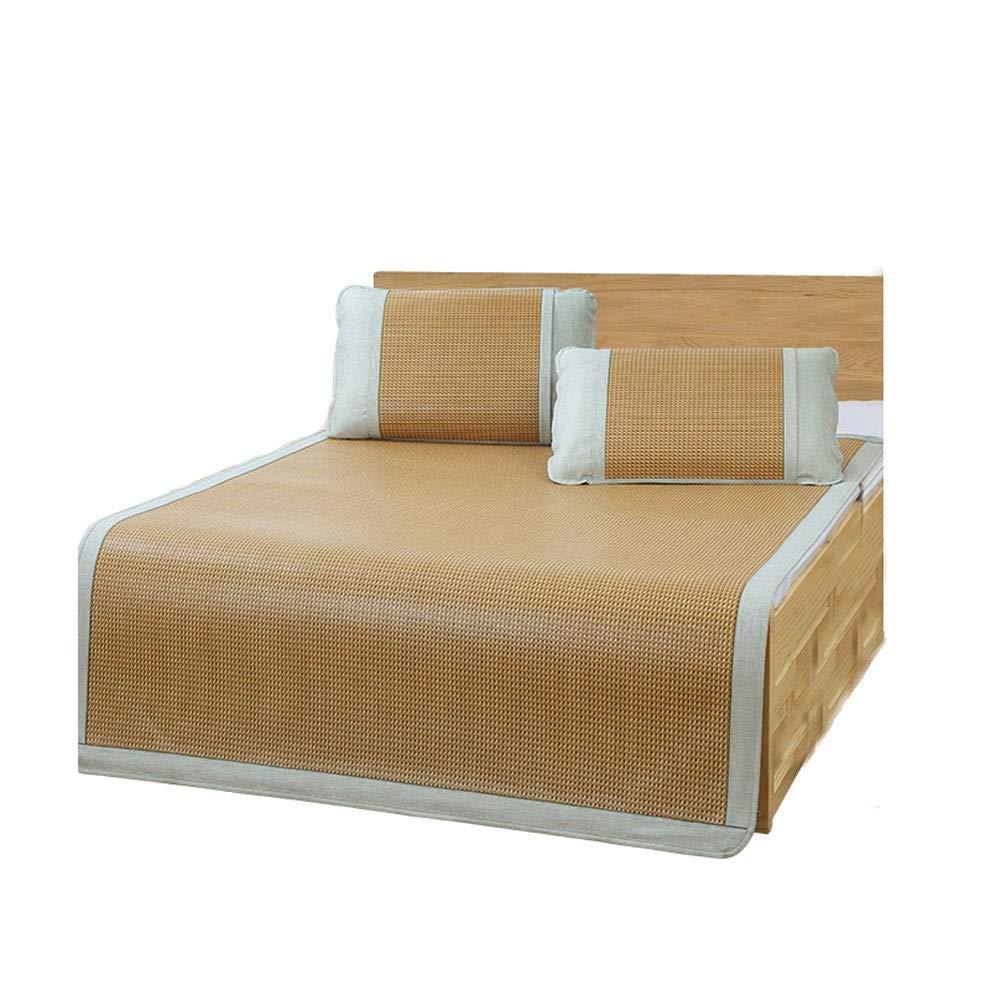 King QB Cooling Summer Sleeping Pat Natural Pure Bamboo Vine Summer Sleeping Pad Mattress Topper air Conditioning mat (Size   King)