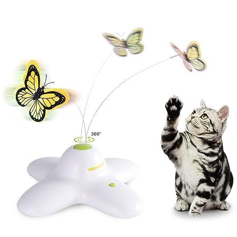 AFP - Juguete para gato eléctrico de mariposa (con dos mariposas de recambio)